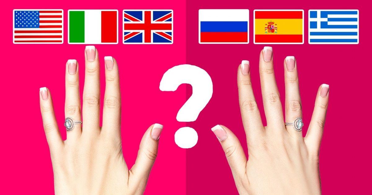 ¿Por qué enalgunos países sepone elanillo debodas enlamano izquierda yenotros, enlamano derecha?