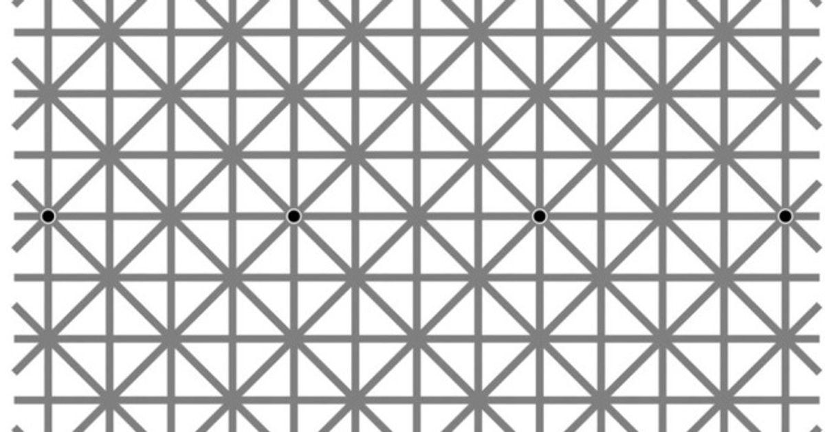 ¿Cuántos puntos negros ves enesta imagen?