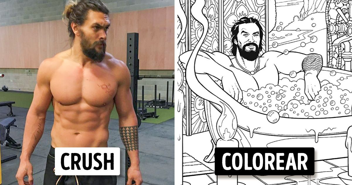 Ahora puedes comprar un libro para colorear de Jason Momoa para acabar con tu estrés