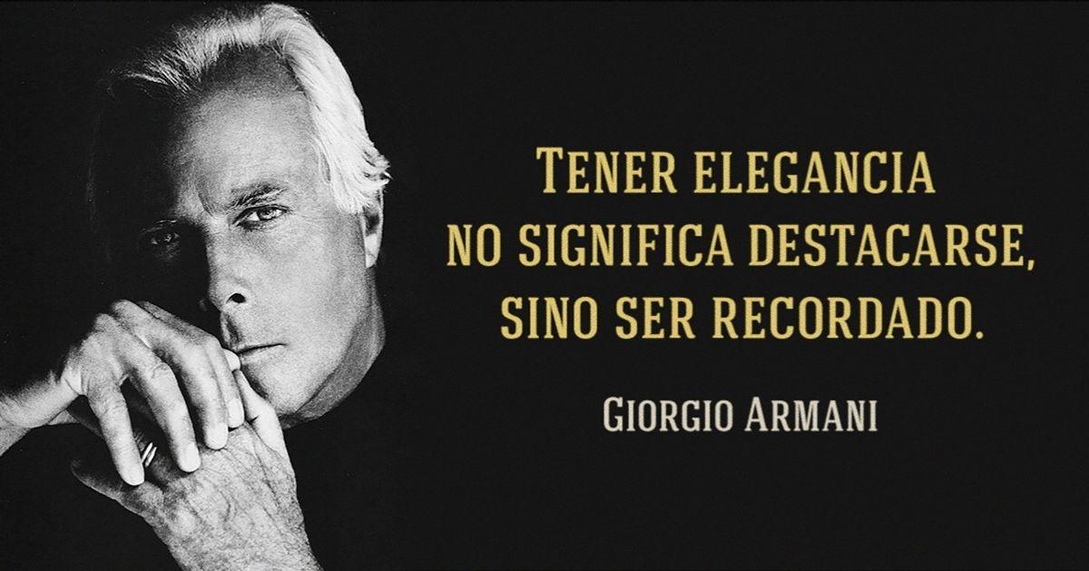 10Lecciones deestilo deGiorgio Armani