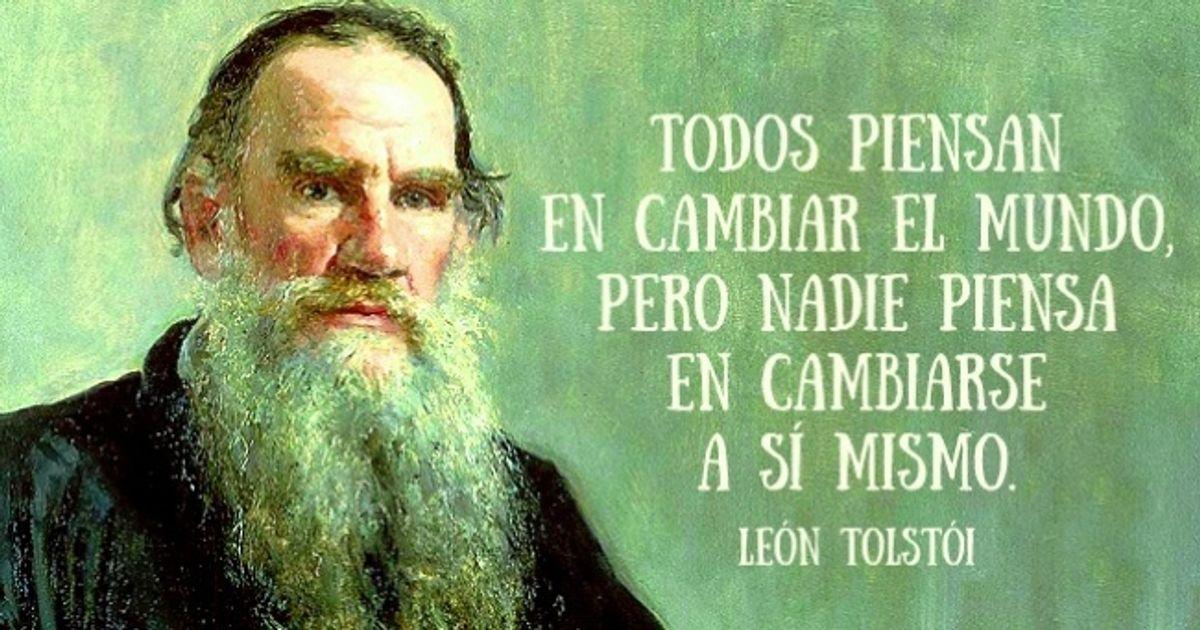15Frases célebres deLeón Tolstói