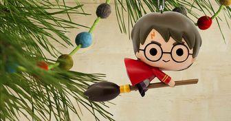 11 Mágicos adornos inspirados en Harry Potter para fans con espíritu navideño