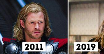 """Así ha sido el cambio de """"Los Vengadores"""" desde su primera hasta su última película"""