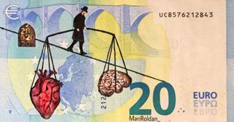 30 Obras de arte dibujadas en billetes por una artista española