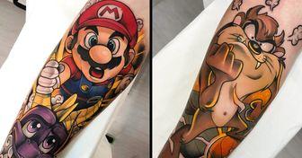 25 Tatuajes para aquellos que quieren llevar a sus personajes de películas y dibujos animados favoritos en la piel