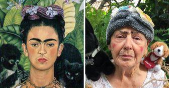 Una abuelita está imitando famosas obras de arte con casi cualquier cosa que tiene a la mano (15 fotos)