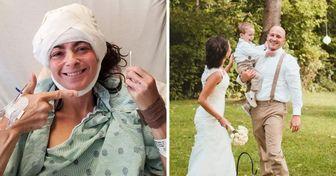 Tuvo un parto difícil y perdió la memoria, pero su esposo logró mantener a la familia unida