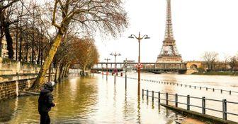 Mira cómo una inundación cambió elcentro deParís. Ysí, está ocurriendo ahora mismo