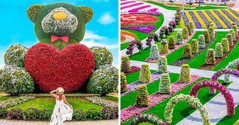 """El """"pulmón"""" de Dubái es un jardín temático con más de 150 millones de flores, y aquí te lo mostraremos"""