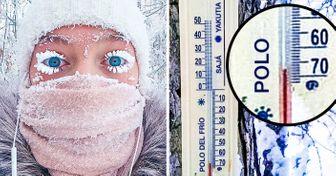 Elfrío enellugar más frío del mundo, Oimiakón, rompió eltermómetro ypuso demoda elmaquillaje nevado