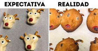 20 Usuarios de la red mostraron sus peores resultados de decoración de galletas navideñas