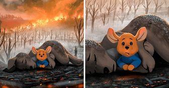 20 Dibujos hechos por artistas de todo el mundo que expresan el dolor de Australia por los incendios