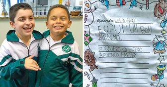 Un niño autista le pidió a Santa Claus que su amigo, quien también es autista, aprendiera a hablar