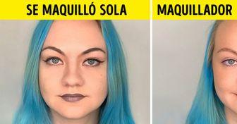 16 Chicas valientes que primero se maquillaron solas y luego fueron maquilladas por una profesional. ¡Y es difícil decidir cuál de los resultados fue el mejor!