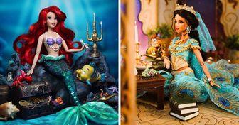 Coleccionista brasileño recrea increíbles escenarios de películas de Disney con sus muñecas Barbie