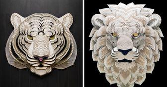 Artista filipino convierte el papel en figuras de animales, y el resultado nos encantó