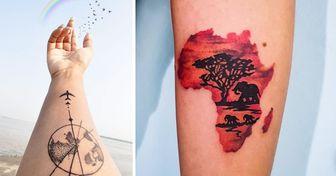 22 Tatuajes que nos recuerdan lo hermoso que es viajar