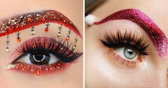 24 Diseños de cejas que demuestran que la Navidad y el maquillaje combinan muy bien