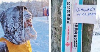 22 Fotos tomadas en un lugar donde el termómetro cae a −65 °C