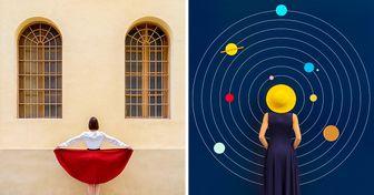 Artistas se fusionan con la arquitectura para crear fotografías únicas
