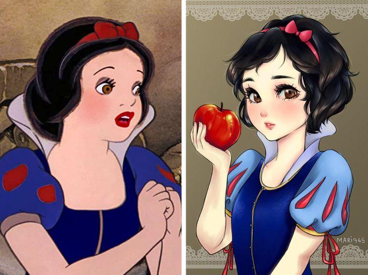 Así es cómo lucirían algunos personajes de Disney si fueran animé