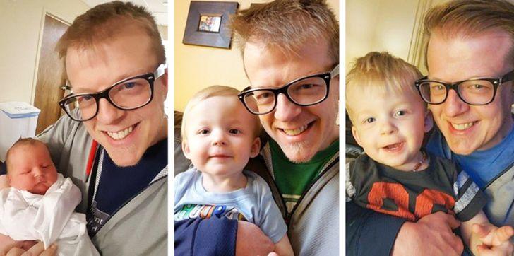 25 Papás que no lograron controlar sus emociones al ver a sus bebés recién nacidos