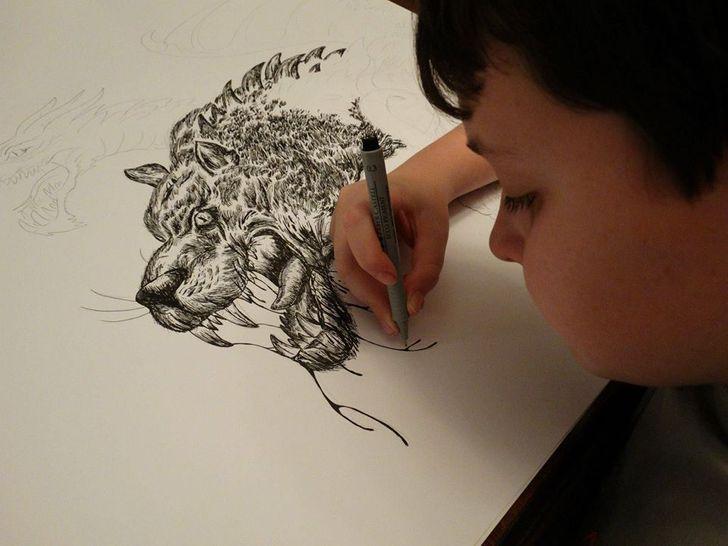El joven que dibuja animales de memoria desde los 2 años y tiene su propia enciclopedia nos contó su historia
