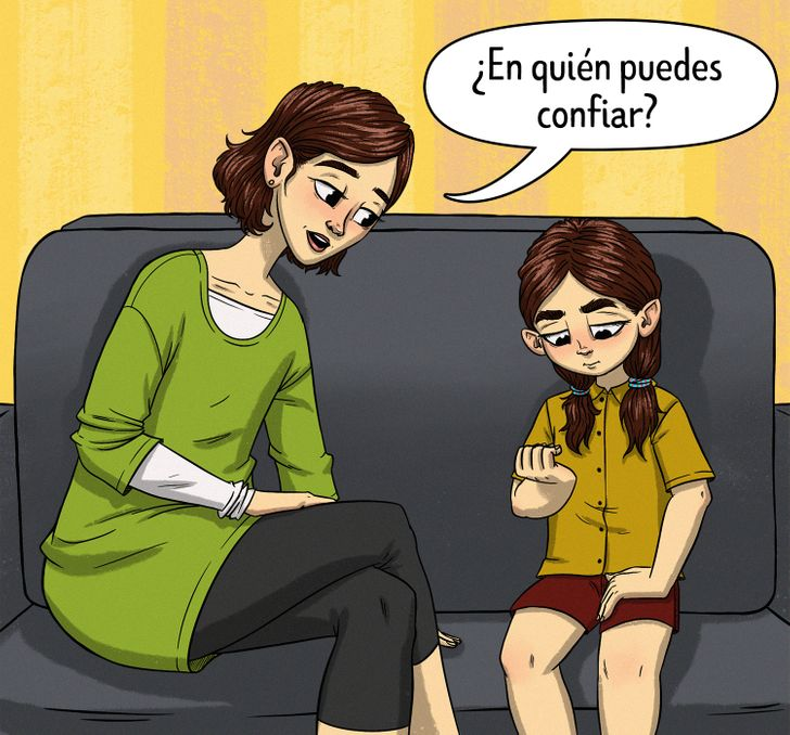 """7 Formas de enseñarle a tu hijo sobre el tacto """"seguro"""" e """"inseguro"""""""