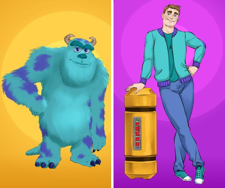 """Imaginamos cómo se verían los personajes de """"Monsters, Inc."""" si fueran humanos"""