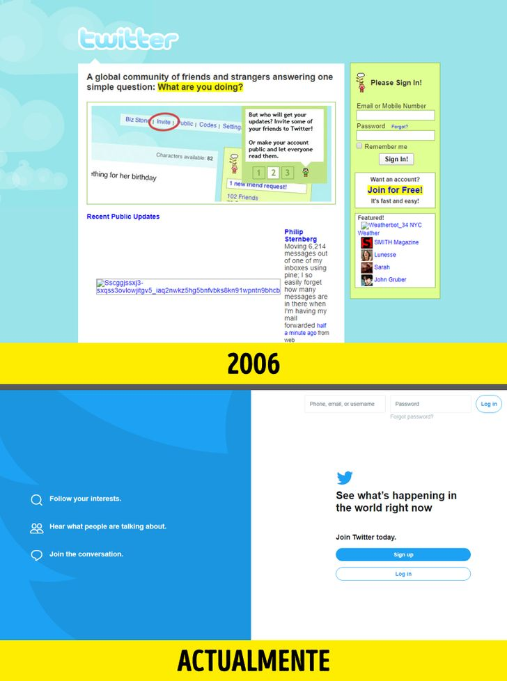 Cómo lucían en sus inicios 12 páginas de Internet que visitamos todos los días