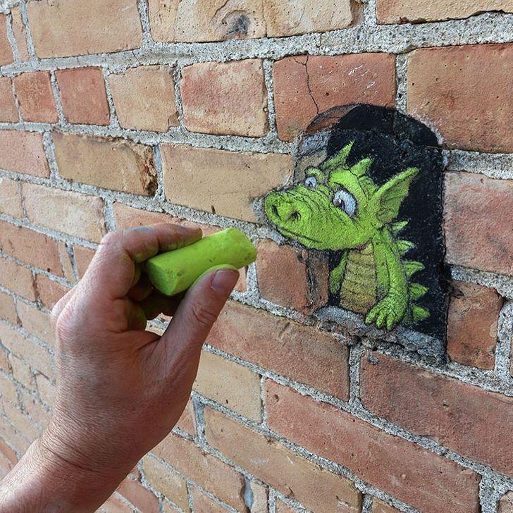 Artista estadounidense esconde fantasiosas criaturas en las calles del mundo