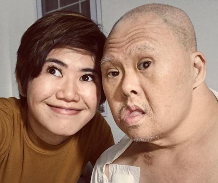 Una chica le desea feliz cumpleaños a su padre con síndrome de Down y hace que todos admiren a ese fuerte hombre
