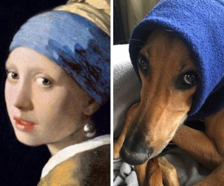 20+ Personas hicieron una parodia de las obras maestras del mundo, y algunas parecen haber superado el original