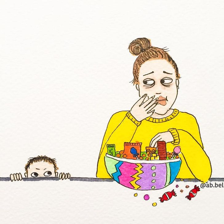 Una madre muestra su vida con ilustraciones irónicas, y muchos padres pueden reconocerse en ellas