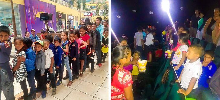 Niños de una escuela rural van al cine por primera vez gracias a la iniciativa de su profesor