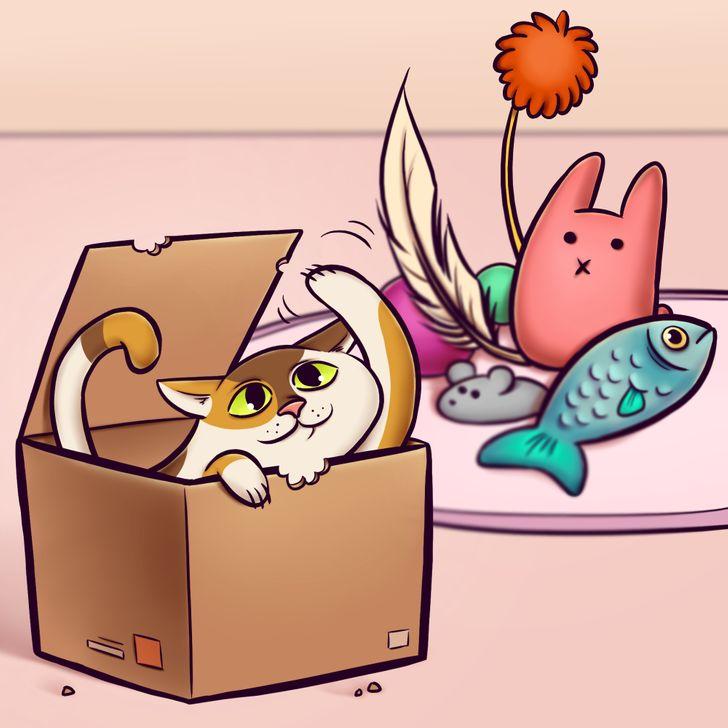 7 Comportamientos raros de los gatos que tienen una explicación
