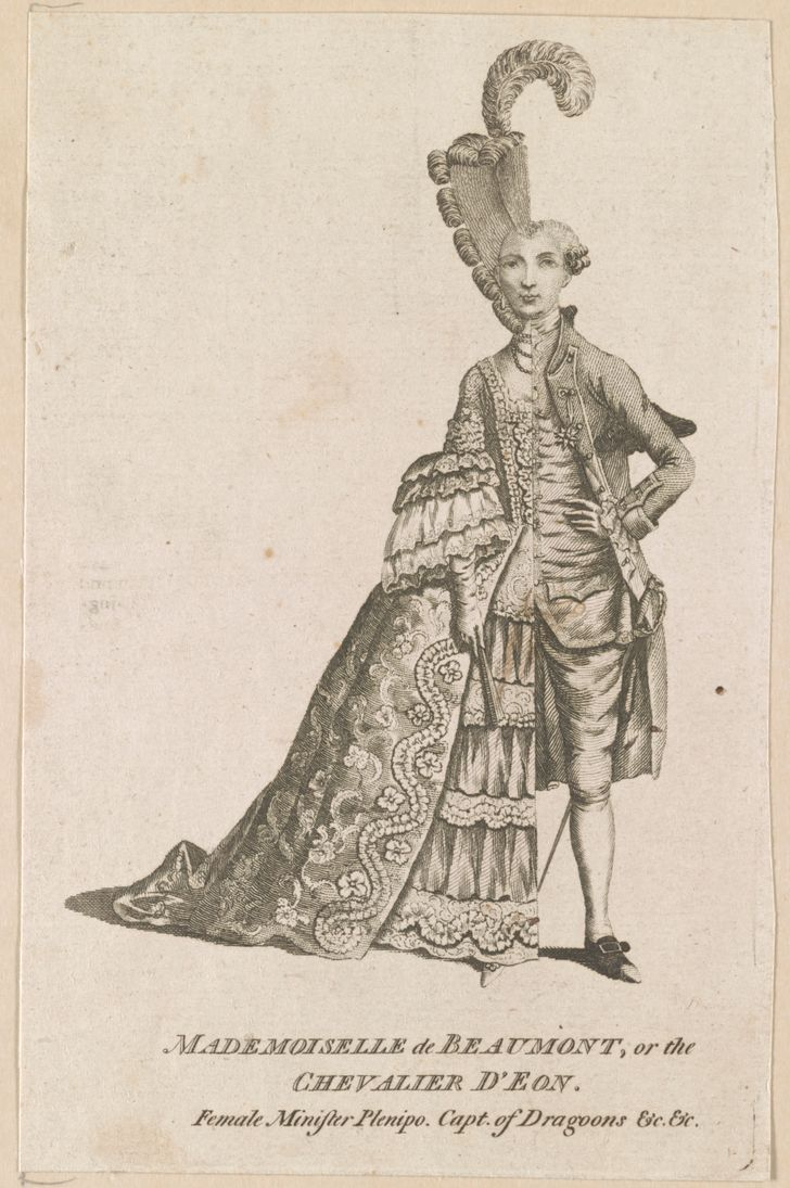 La misteriosa identidad del Chevalier d'Eon, o Mademoiselle Beaumont