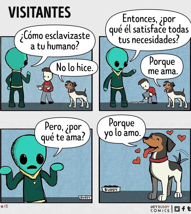 30 Cómics que demuestran el amor incondicional que existe entre un humano y su mascota