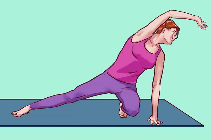 9 Ejercicios de estiramiento que eliminan la asimetría del cuerpo y aceleran el metabolismo