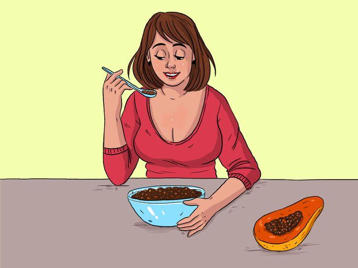 Qué pasará con tu cuerpo si incluyes semillas de papaya en tu dieta diaria