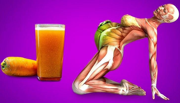 Qué podría pasar con tu cuerpo si comienzas a beber jugo de zanahoria
